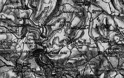 Old map of Wetton Hill in 1897