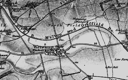 Old map of Wetwang Grange in 1898