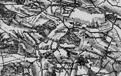 Old map of Wetwood in 1897