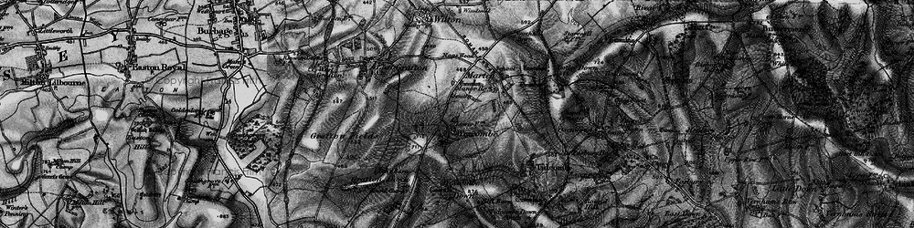 Old map of Wexcombe in 1898
