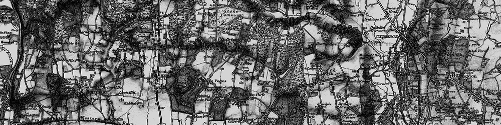 Old map of Wexham Street in 1896