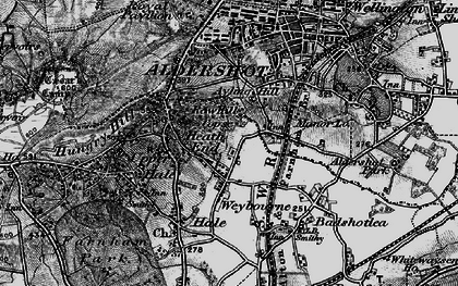 Old map of Weybourne in 1895