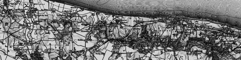 Old map of Weybourne Hope in 1899