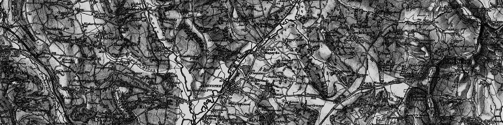 Old map of Weycroft in 1898