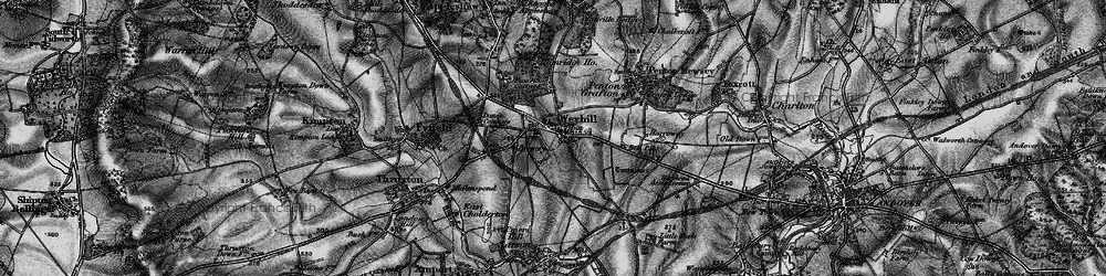Old map of Weyhill in 1895