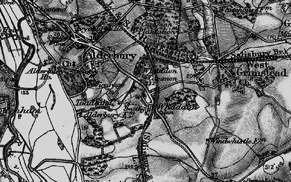 Old map of Whaddon in 1895