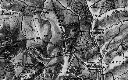 Old map of Whaddon Chase in 1896