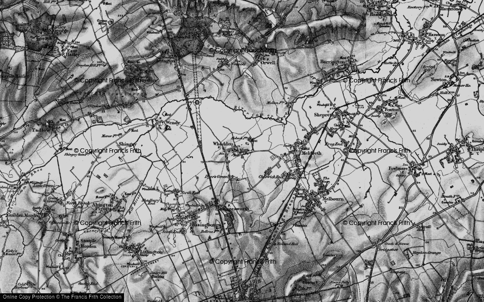 Old Map of Whaddon, 1896 in 1896