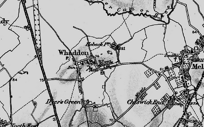 Old map of Whaddon in 1896