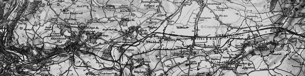 Old map of Whaddon in 1898