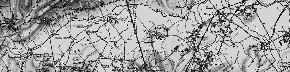 Old map of Whaddon Gap in 1896