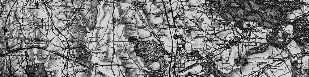 Old map of Whaley Common in 1899