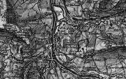Old map of Whaley Bridge in 1896