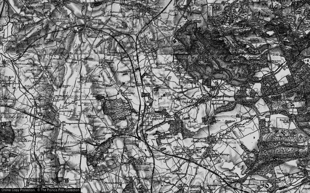 Old Map of Whaley Thorns, 1899 in 1899
