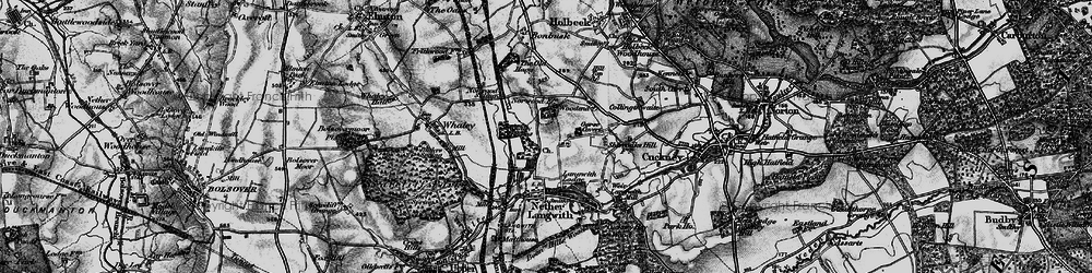 Old map of Woodend in 1899
