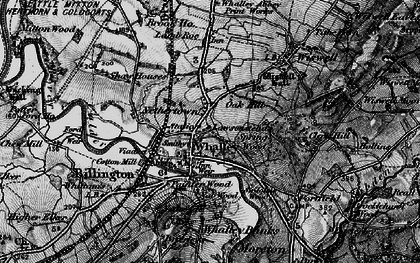 Old map of Whalley in 1898