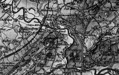 Old map of Whalley Banks in 1898