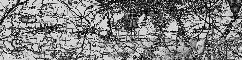 Old map of Whalley Range in 1896