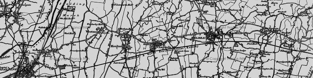 Old map of Whaplode in 1898