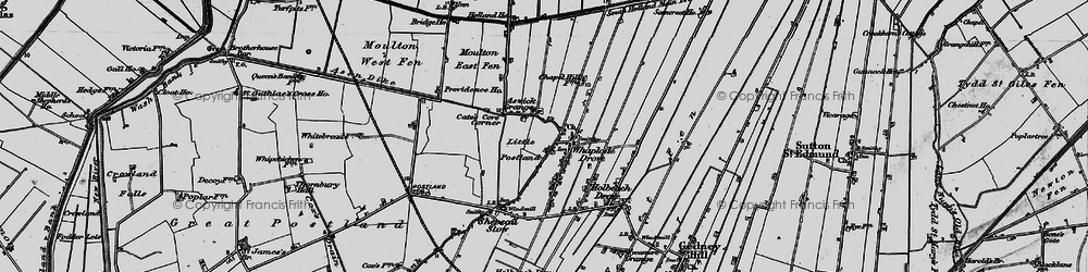 Old map of Whaplode Drove in 1898