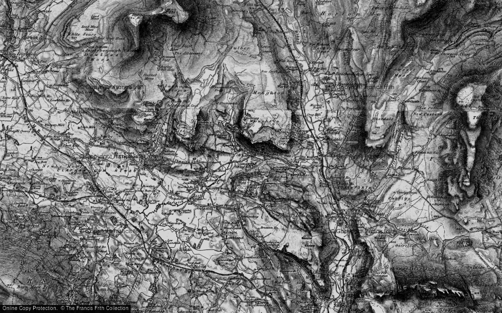 Old Map of Wharfe, 1898 in 1898