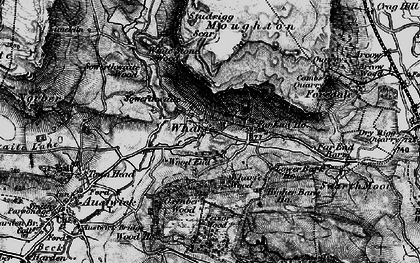 Old map of Wharfe Wood in 1898