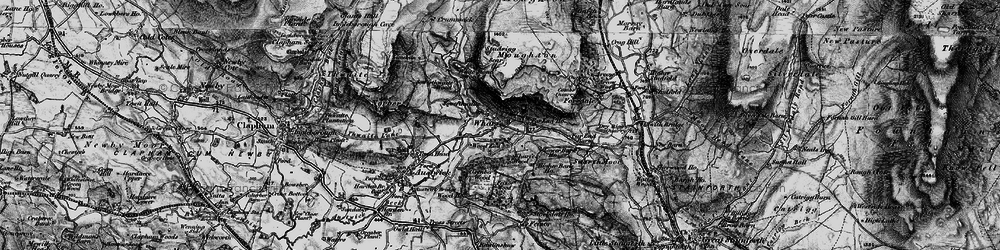 Old map of Wharfe in 1898