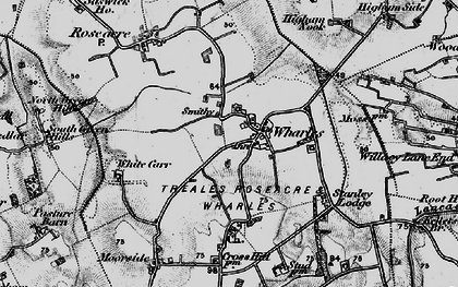 Old map of Wharles in 1896