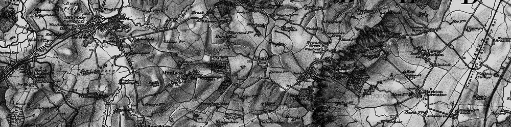 Old map of Wharley End in 1896
