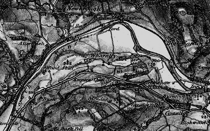 Old map of Wharmley in 1897