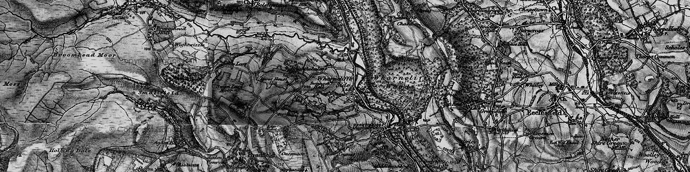 Old map of Wharncliffe Side in 1896
