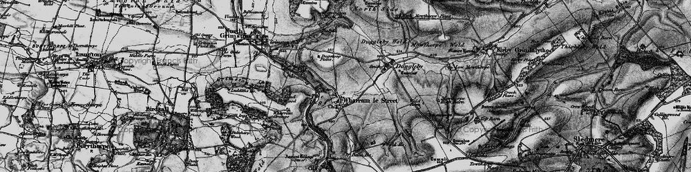 Old map of Wharram le Street in 1898