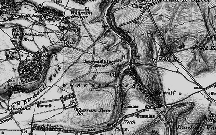 Old map of Wharram Percy Village in 1898