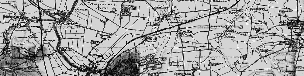 Old map of Wharton Wood in 1895