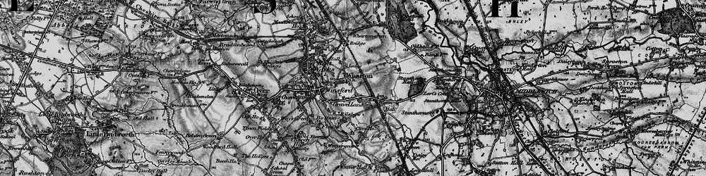 Old map of Wharton in 1896