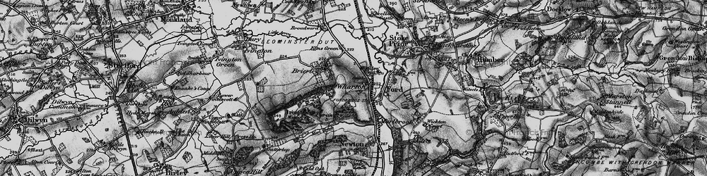Old map of Wharton in 1899