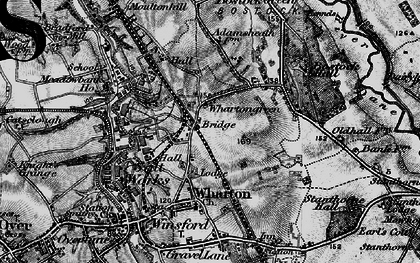 Old map of Wharton Green in 1896