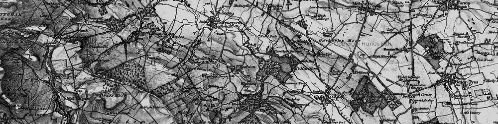Old map of Whashton in 1897