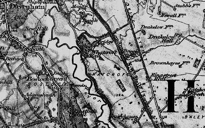 Old map of Whatcroft in 1896