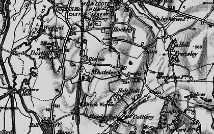 Old map of Whateley in 1899
