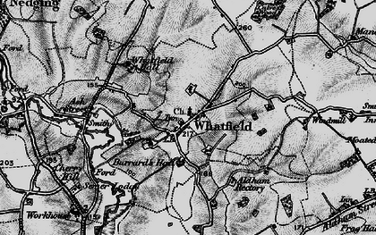 Old map of Whatfield in 1896