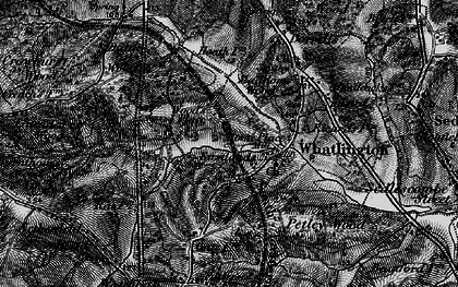 Old map of Whatlington in 1895