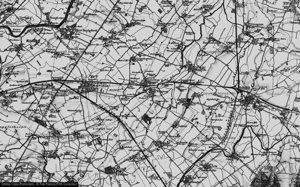 Old Map of Whatton-in-the-Vale, 1899 in 1899