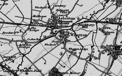 Old map of Whatton-in-the-Vale in 1899