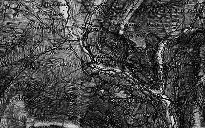 Old map of Whaw Edge in 1897