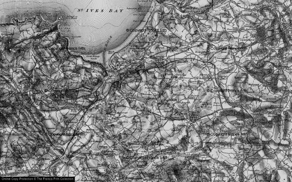 Old Map of Wheal Alfred, 1896 in 1896