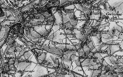 Old map of Wheal Alfred in 1896