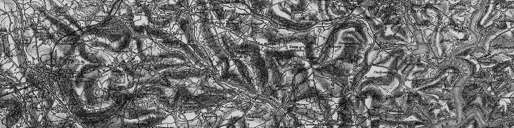 Old map of Wheal Baddon in 1895
