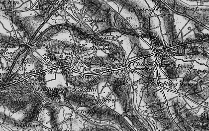 Old map of Wheal Busy in 1895