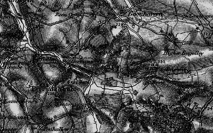 Old map of Wheal Frances in 1895